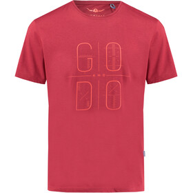 Kaikkialla M's Taisto Drirelease SS Shirt Rust